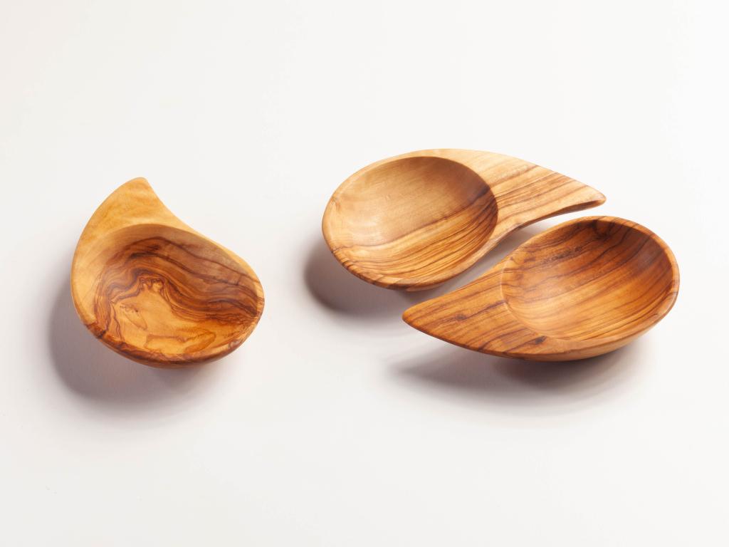 Aperitifschale geölt Ying Yang - ca. 13 cm