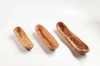 Baguetteschale aus Olivenholz ca. 35 cm