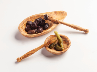 Oliventeller mit Kernmulde mini, ca. 14-15 cm