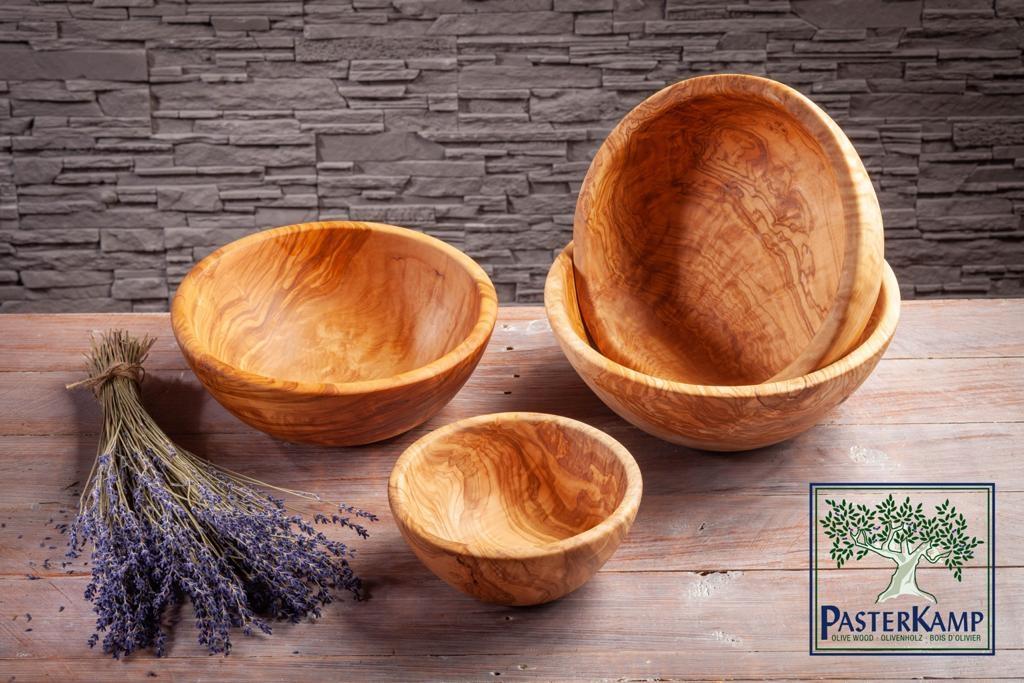 Salatschale aus Olivenholz ,rund von ca. 20cm bis 33cm Durchmesser