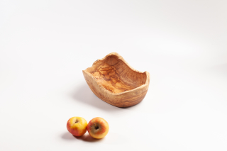 Fruit Bowl with natural edge, small - ca. 21-23 cm