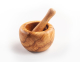 Mortar and pestle, round shape from 7 to 18 cm diameter