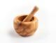Mörser aus Olivenholz, rund von 7 - 18 cm Durchmesser
