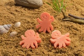 "Motivseife Strandmotiv Oktopus 40gr. ""pink..."