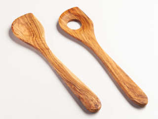 Bakers spoon with hole
