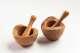 Mörser aus Olivenholz mit Natur- /  Waldkante von 10 - 18 cm Durchmesser