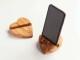 Smartphone / Tablethalter aus Olivenholz