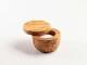 Salz-/Gewürzdose aus Olivenholz mit Magnetverschluss  10 cm. Durchmesser