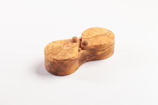 Salz & Pfeffer Dose aus Olivenholz ca. 17 cm.