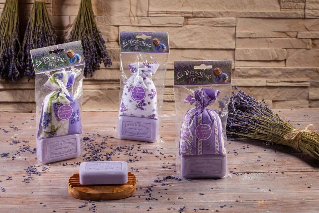 Lavendel Geschenkset aus der Provence mit Savon de Marseille 125gr