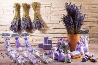 """Lavendel 4er Kette Motiv  """"Lavande de Grignan""""..."""