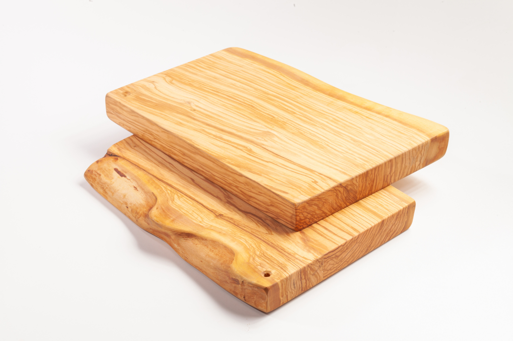Butcherblocks, made of solid olivewood,