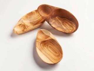 Oliventeller mit Kernmulde von ca. 14-21cm
